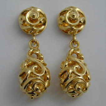 Baroque Bead Drop Earrings