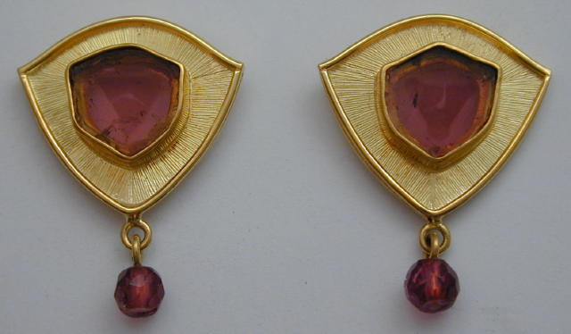 Tourmaline Slice Post Earrings