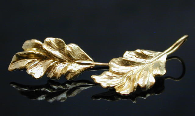 French-Wire Leaf Earrings